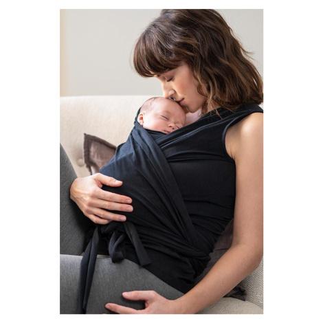 Čierny zavinovací top pre mamičky Skin to Skin Winifrid
