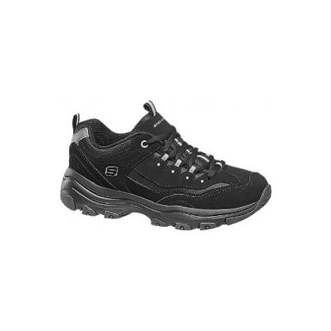 Čierne chunky tenisky Skechers
