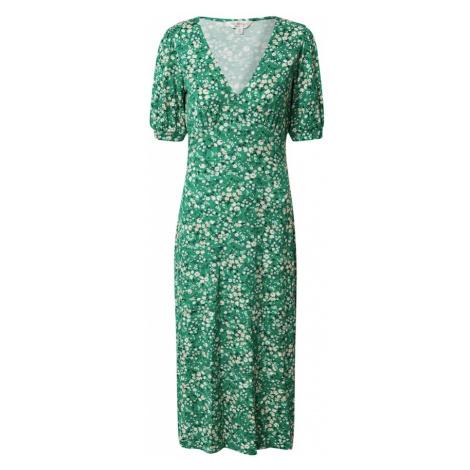 Miss Selfridge Šaty  zelená / biela / tmavomodrá