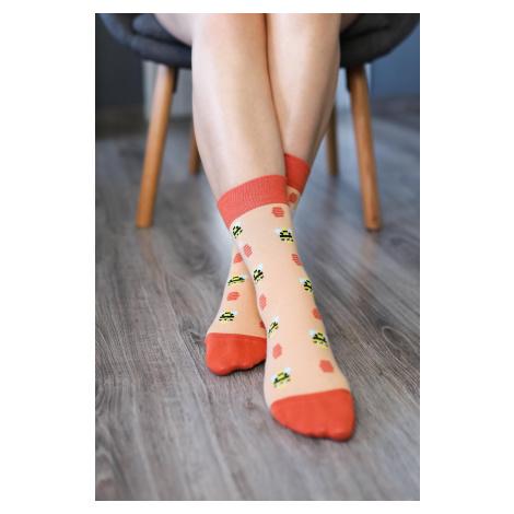 Barefoot ponožky - Včielky 43-46