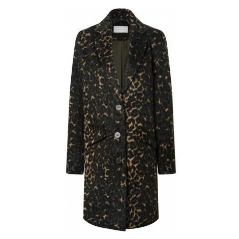 VILA Prechodný kabát  hnedá / čierna