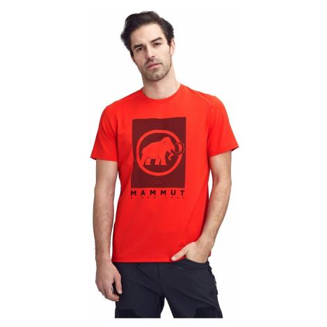 Tričko MAMMUT Trovat Red Červená