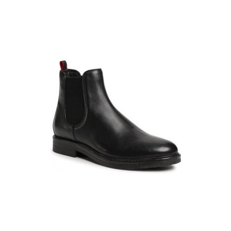 Gino Rossi Členková obuv s elastickým prvkom MB-HAVR-01 Čierna