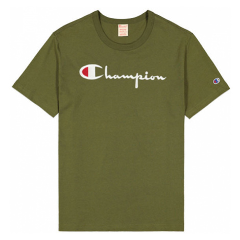 Champion Script Logo Crew Neck T-Shirt-XL zelené 210972-GS554-XL
