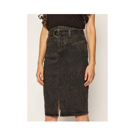 Guess Džínsová sukňa Corset Longuette W0YD47 D42K2 Sivá Slim Fit