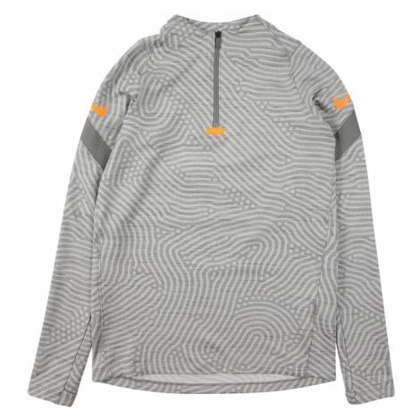 NIKE Športová mikina 'Strike'  tmavosivá / oranžová / svetlosivá / sivá melírovaná