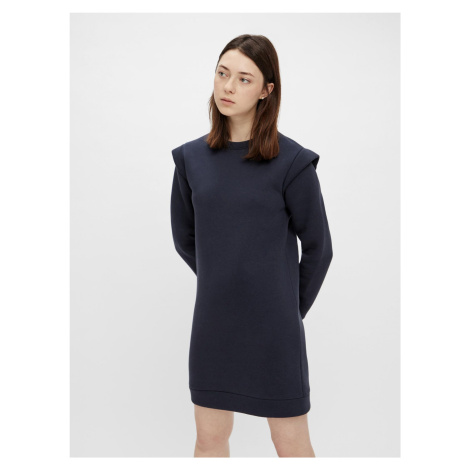 Pieces modré mikinové šaty