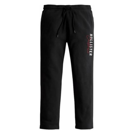 HOLLISTER Nohavice 'MODERN'  čierna / červená / biela