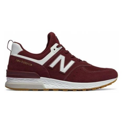 New Balance MS574FCW červená - Pánska voľnočasová obuv