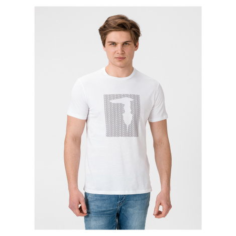 Tričko Trussardi T-Shirt Pure Cotton Regular Fit Biela