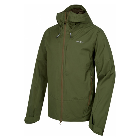 Husky Nicker tm.zelená, Pánska hardshellová bunda