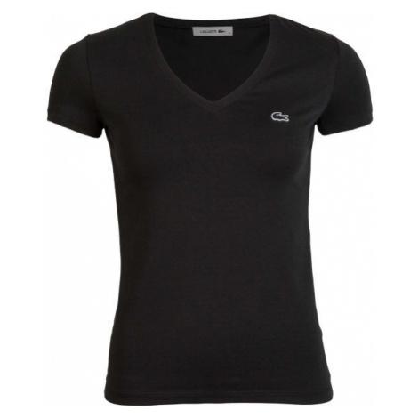 Lacoste V NECK SS T-SHIRT čierna - Dámske tričko