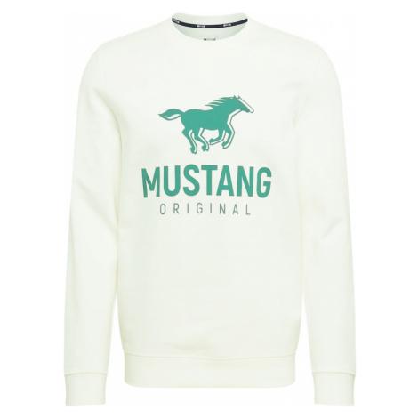 MUSTANG Mikina  biela / zelená