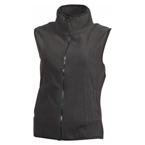 James & Nicholson Dámska fleecová vesta JN048
