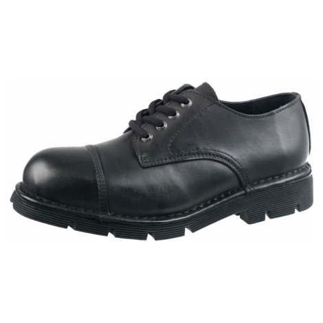 topánky kožené NEW ROCK NEWMILI03-S1 Čierna