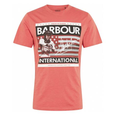Barbour International Tričko 'Time Steve'  lososová / biela / čierna / sivá