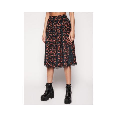 Calvin Klein Trapézová sukňa Python Lace Trim K20K201739 Farebná Regular Fit