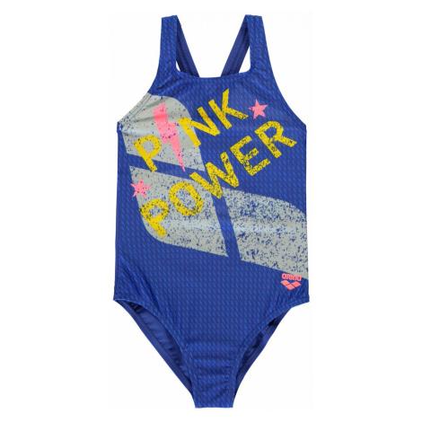 Arena Pink Power Swimsuit Junior Girls Pink/Royal