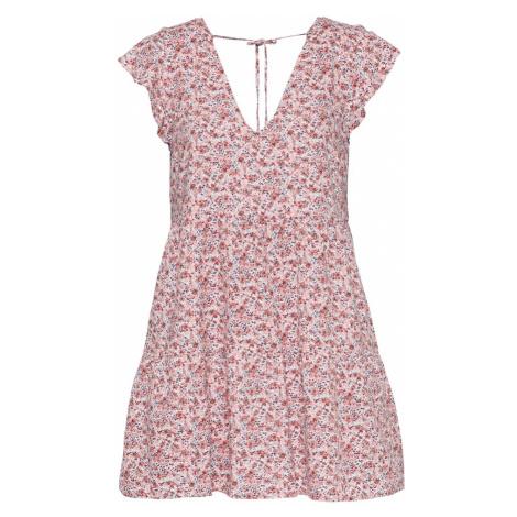 Abercrombie & Fitch Letné šaty  červená / biela / tmavomodrá / ružová