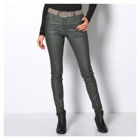 Blancheporte Koženkové nohavice úzkeho strihu bronzová