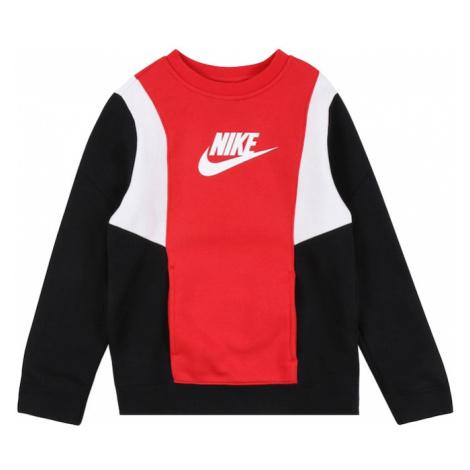 Nike Sportswear Mikina 'Amplify'  biela / čierna / červená