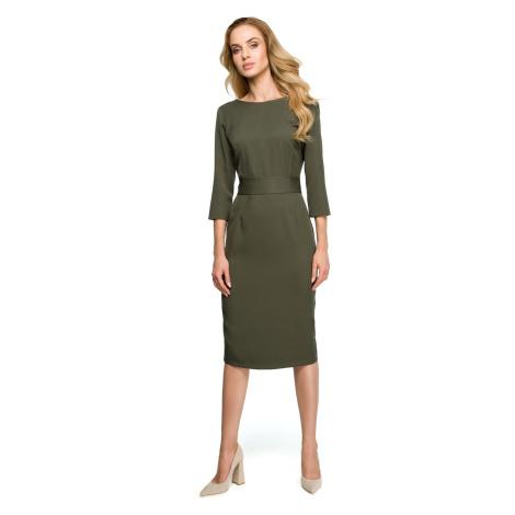 Stylove Woman's Dress S119 Khaki