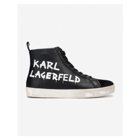 Karl Lagerfeld Skool Brush Logo Tenisky Čierna