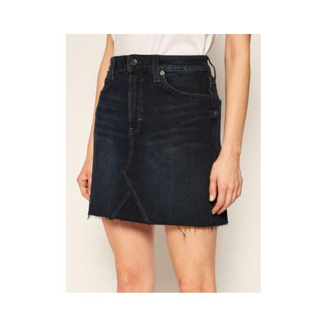 Tommy Jeans Džínsová sukňa Short Denim DW0DW09430 Tmavomodrá Regular Fit
