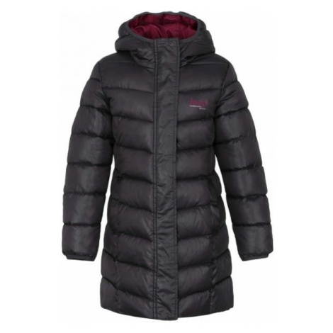 Loap INDORKA tmavo sivá - Dievčenský kabát