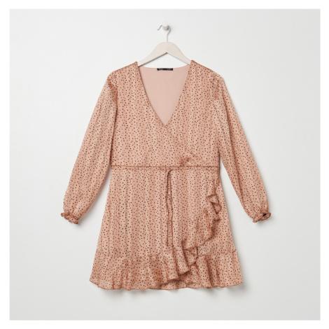 Sinsay - Šaty s volánovým lemom - Ružová