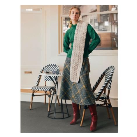 Koton Skirtly Yours Styled By Melis Agazat - Plaid Midi Skirt