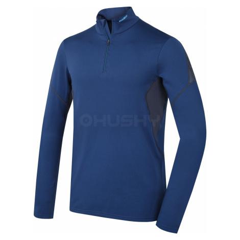 Husky Active winterlong zip tm.modrá, Pánske termo tričko - jeseň, zima