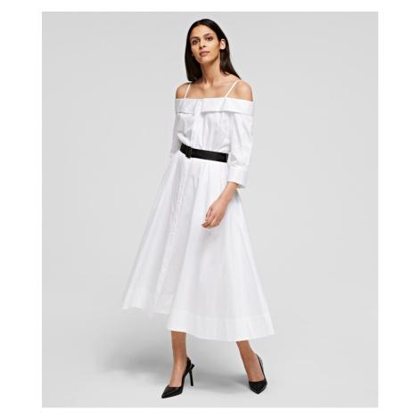 Šaty Karl Lagerfeld Cold Shoulder Shirt Dress