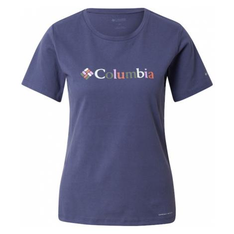 COLUMBIA Funkčné tričko 'Alpine Way Screen'  tmavomodrá / zmiešané farby