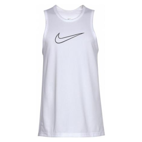 NIKE Funkčné tričko  biela / čierna