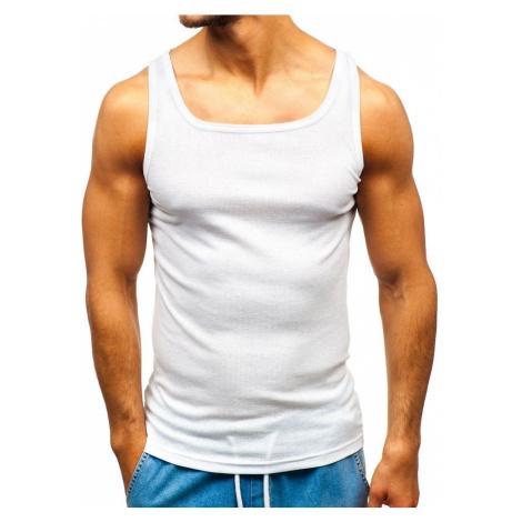 Biele pánske tričko bez potlače BOLF C10049 JUSTPLAY