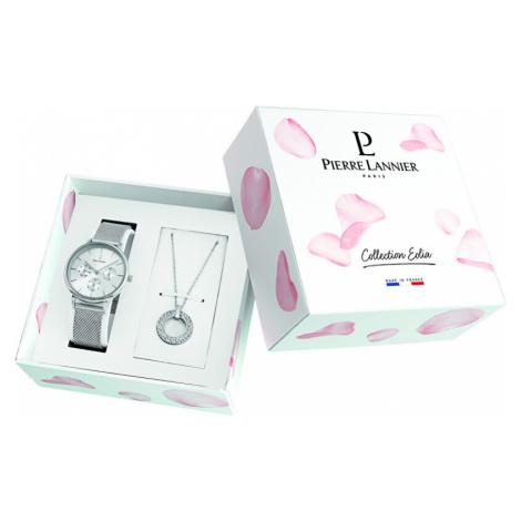 Pierre Lannier Dárkový set hodinky + náhrdelník 351G628