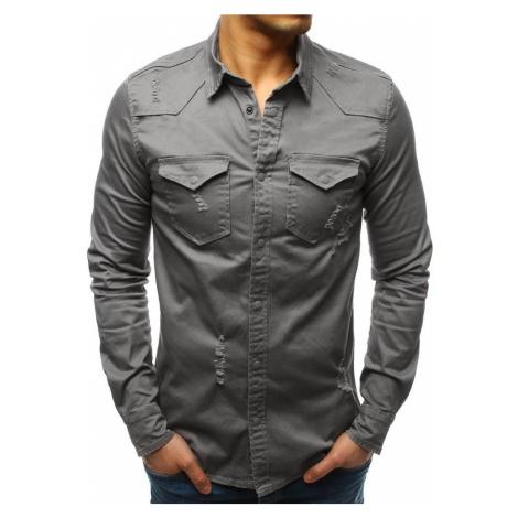 Moderná pánska košeľa tmavosivá dx1723