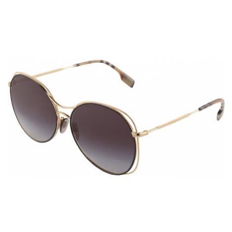 BURBERRY Slnečné okuliare  svetlohnedá / čierna