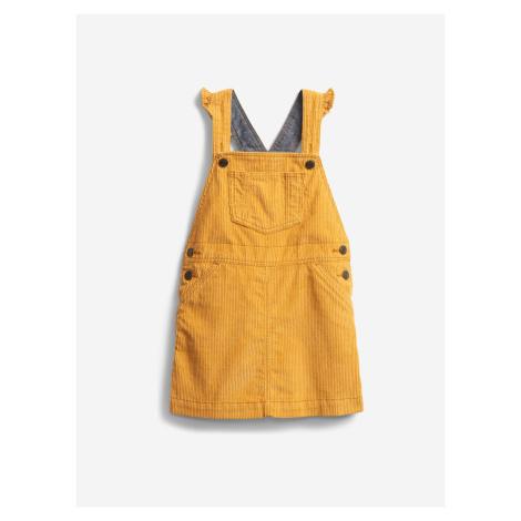 Šaty s laclem dětské GAP Žltá