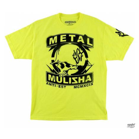 tričko street METAL MULISHA Rattle Day Čierna žltá