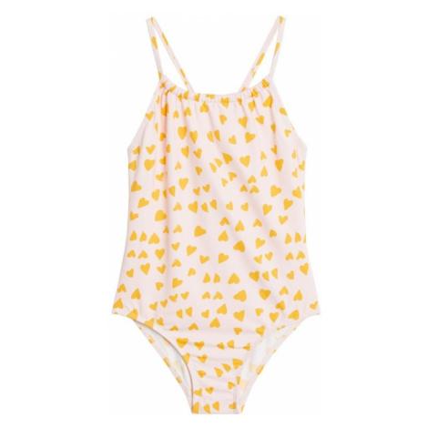 MANGO KIDS Jednodielne plavky  žltá