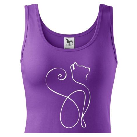 Dámske tričko so siluetou mačky - ideálny darček pre milovníčky mačiek