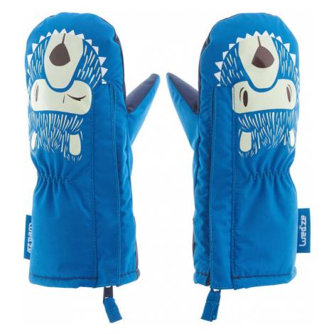 LUGIK Hrejivé palčiaky pre najmenších na lyžovanie/sánkovanie modré MODRÁ 3-4 ROKOV