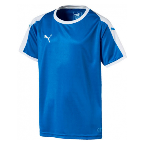 Puma LIGA JERSEY JR modrá - Chlapčenské tričko