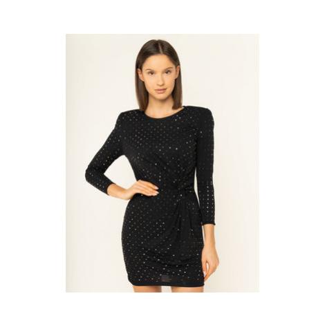 Liu Jo Koktejlové šaty I69111 J5773 Čierna Slim Fit