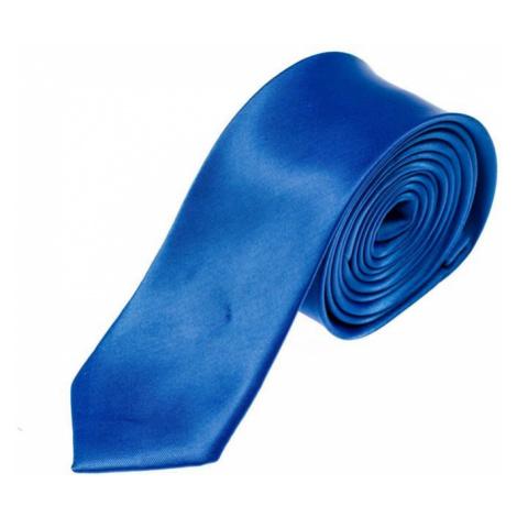 Modrá pánska elegantná kravata BOLF K001