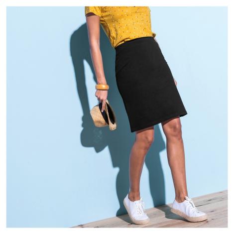 Blancheporte Rovná jednofarebná sukňa čierna