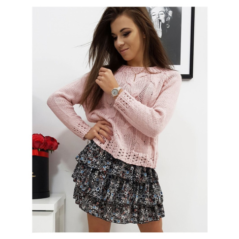 Dámsky ružový sveter my0680