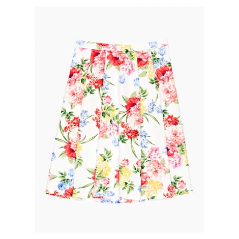 GATE Áčková sukňa s kvetinovou potlačou